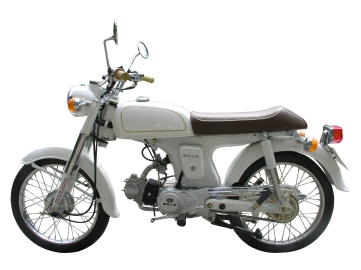 White motorcycle export to Brazil