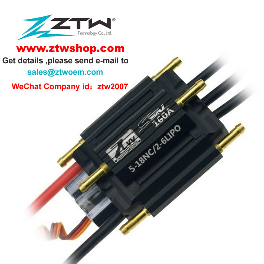 ZTW Seal 160A Boat ESC with 3A SBEC for Rc Boat