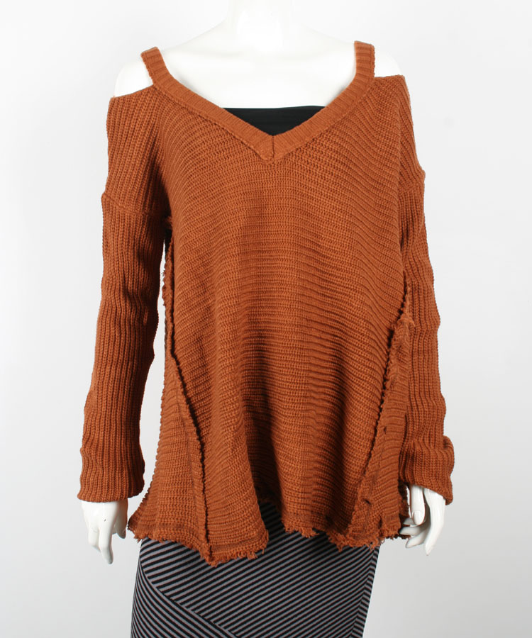 Women Oversized Chunky Knit Off Shoulder Sweater