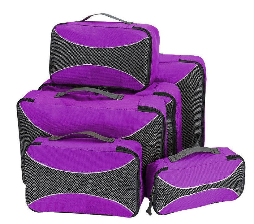 Packing Cubes 6pcs Set Travel Accessories Organizers Versatile Travel Packing Bags