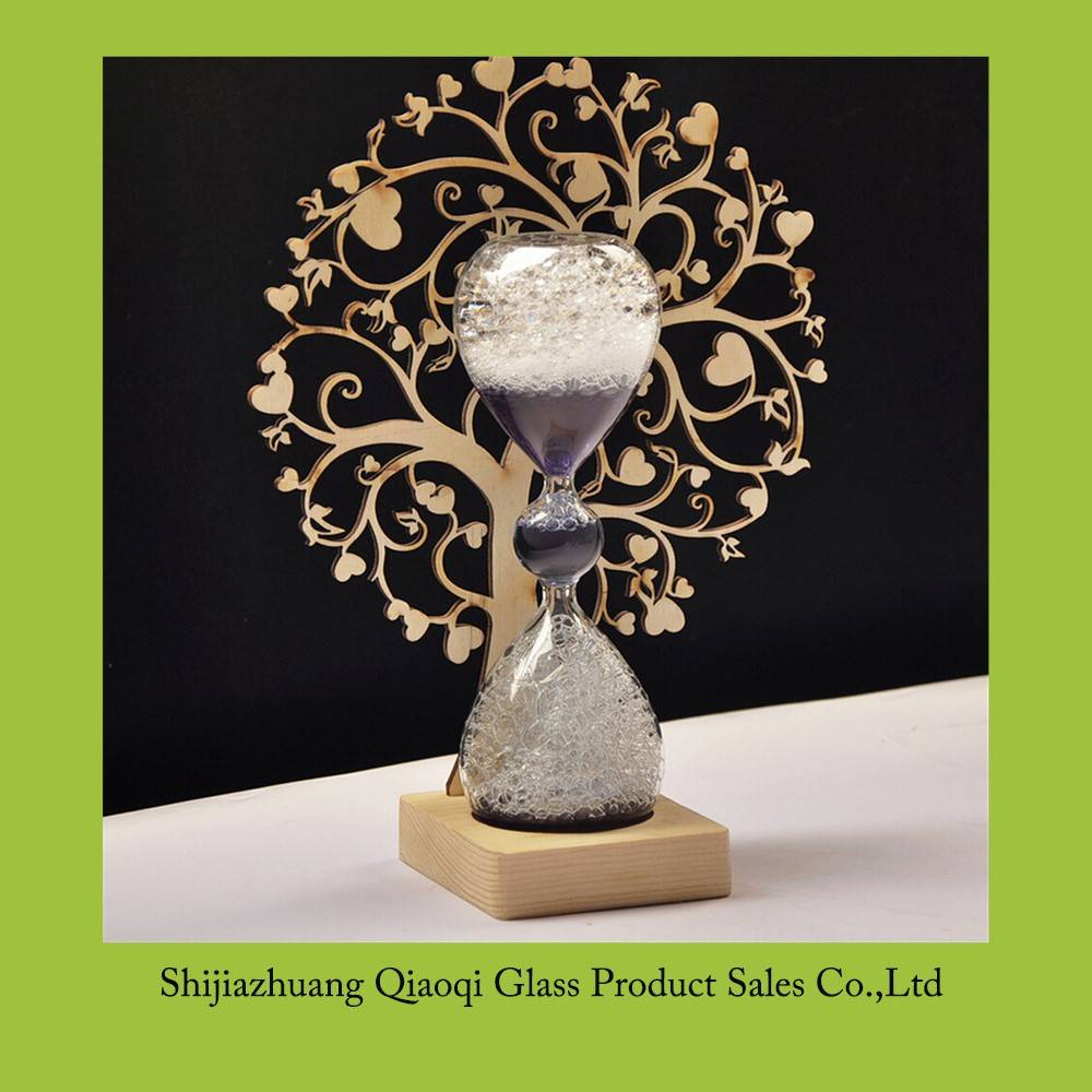 Creative bubble wooden hourglass