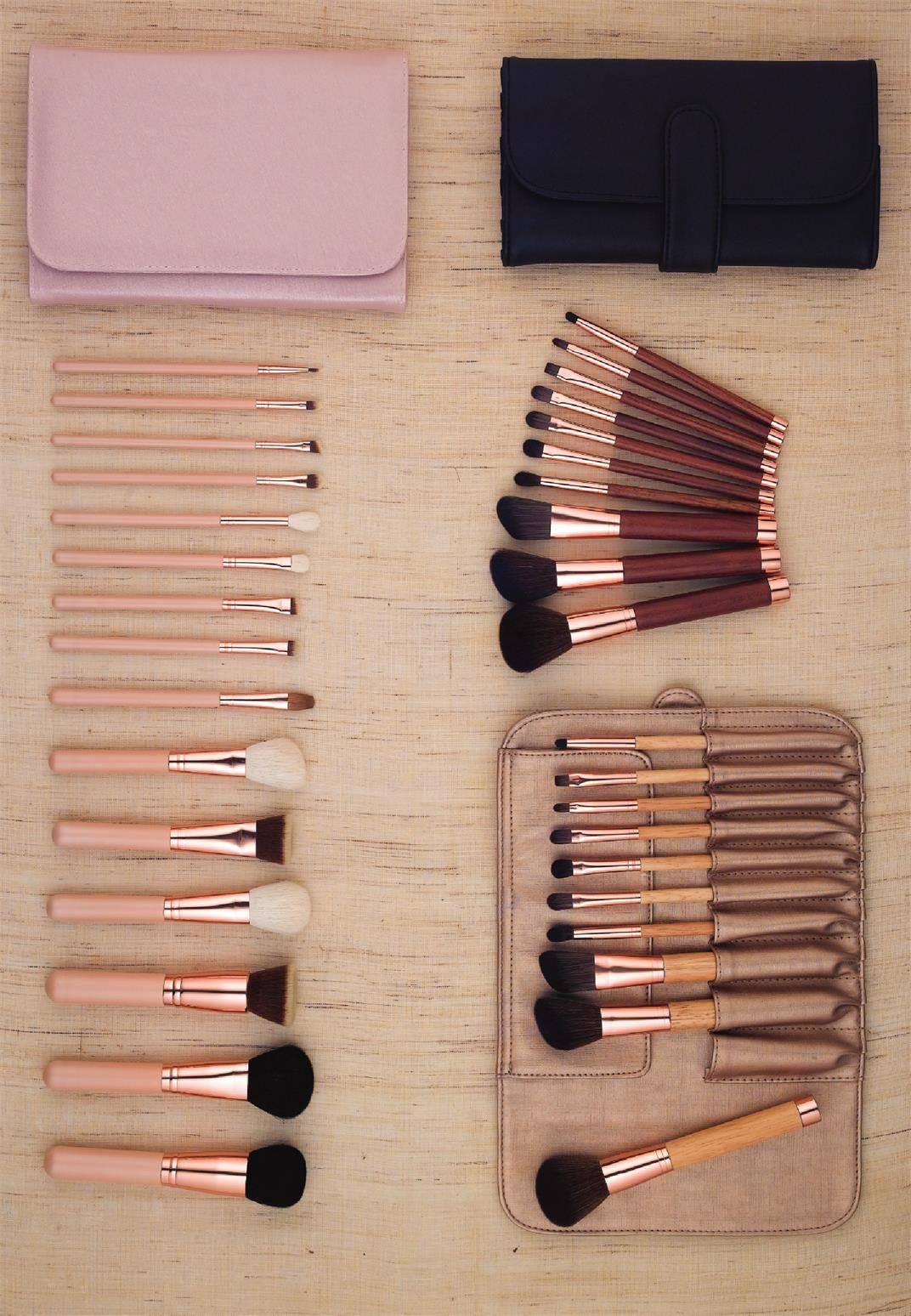 15pcs Professional Wood Makeup Brush Set Foundation Brushes Makeup Brushes