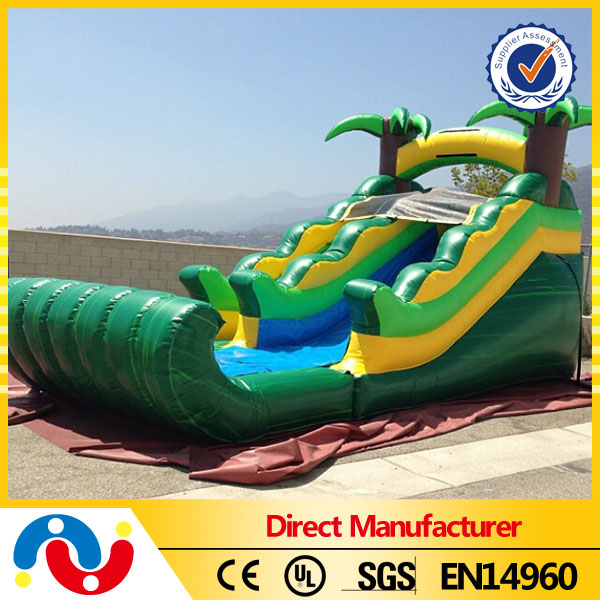 0.55mm PVC indoor inflatable water slide backyard inflatable slide