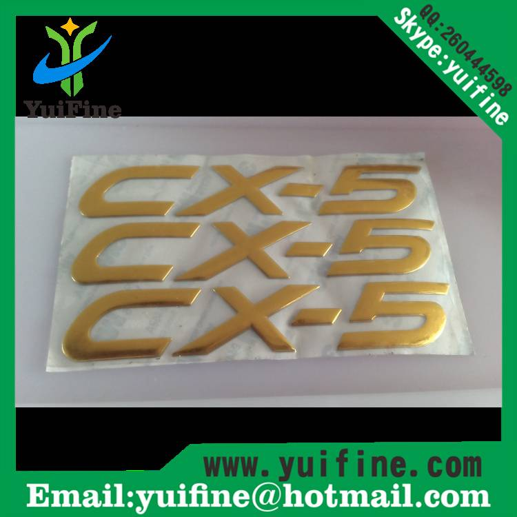 Customized Logo 3D Soft PVC Label Soft Flexible Plastic Silver/Gold Sticker PVC Tag With Adhesive