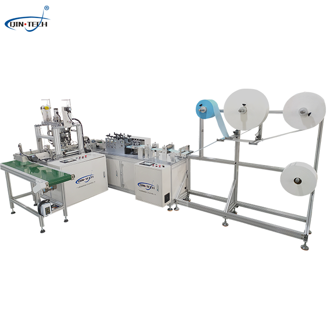 Fully automatic plane one drag one high speed mask machine