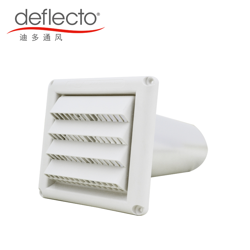 China Suppliers Plastic Louvered Vent Hood + Aluminum Wall Pipe Vent Kit