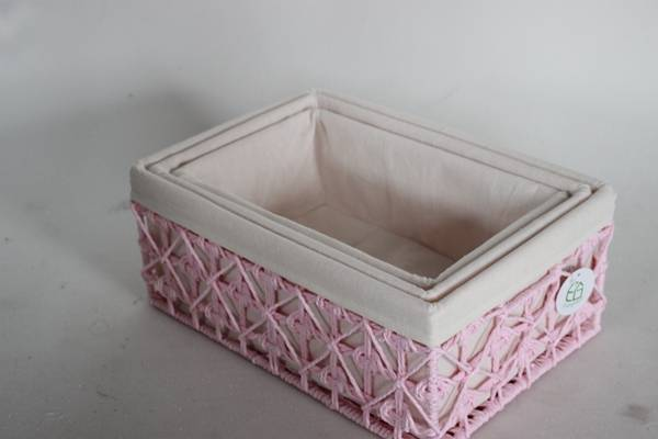 Paper  gift storage  bin s made by hand