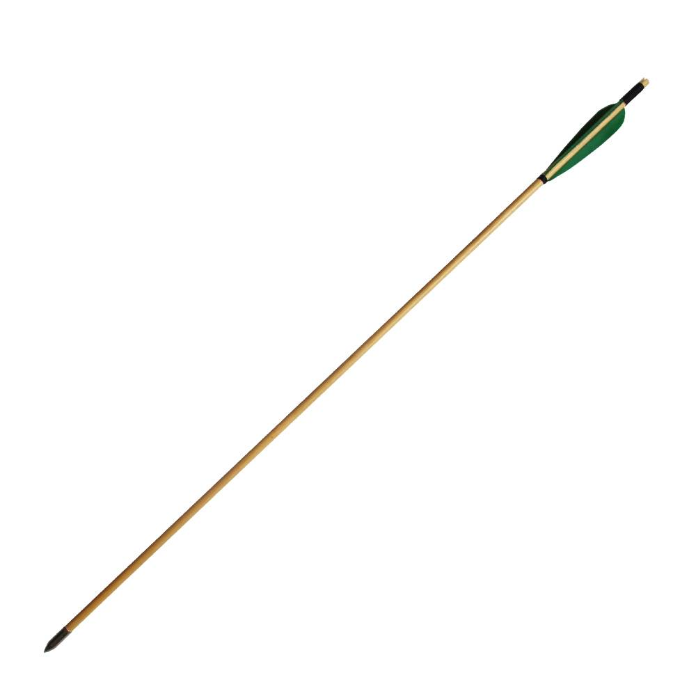Handmade Wooden Arrows 33inch with Green Turkey Feather for 25-50lbs Recurve Bow Hunting Arrow