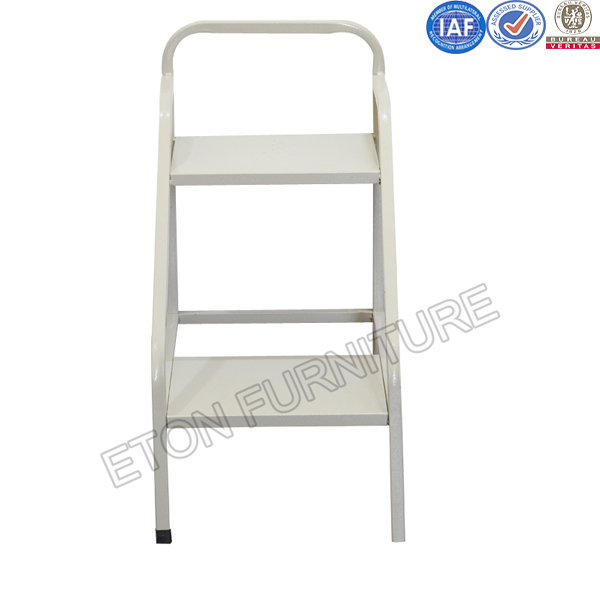 Metal 2 Step Carrier Book Ladder for Library Furniture