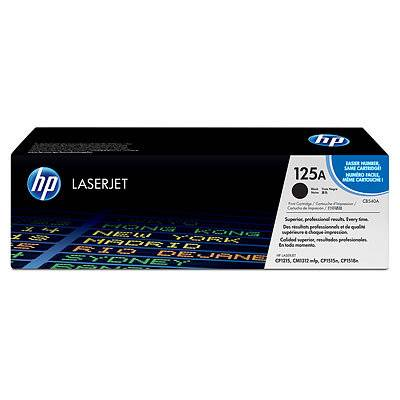 HP 125A Black Toner Cartridge for HP Color LaserJet CP1215 (CB540A)