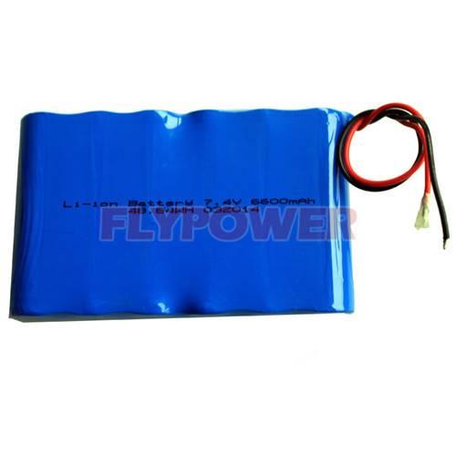 7.4V 6600mAh 18650 Li-ion battery pack