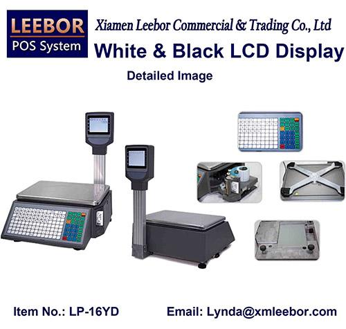 Digital Barcode Label Printing Scale, POS Supermarket Price Computing Weight Platform Retail Scales