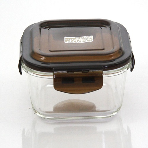 Airtight Borosilicate Glass Food Storage Container with Cover