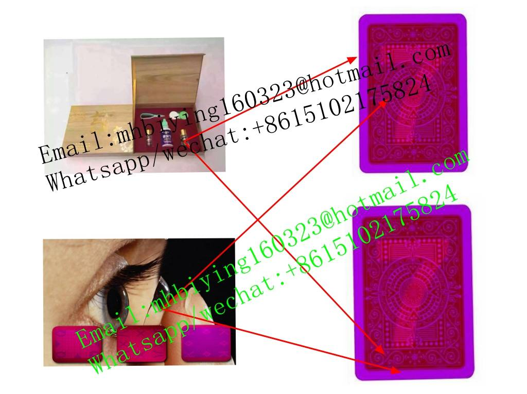 Modiano red plastic marked cards for cards cheat/uv invisible ink/poker cheating device/contact lens