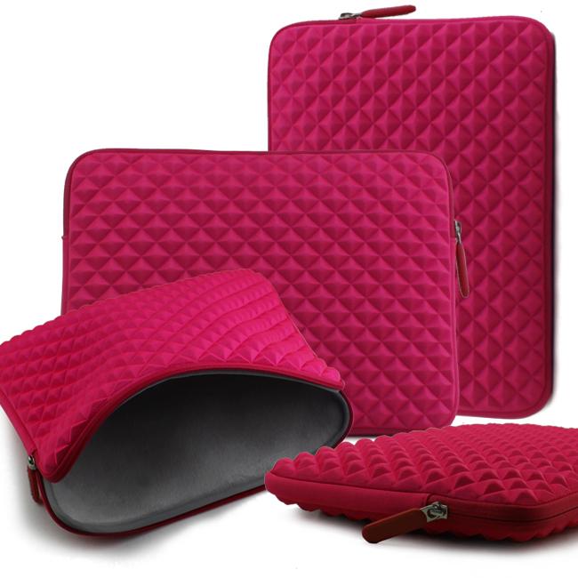 Diamond pattern neoprene Macbook laptop sleeve case