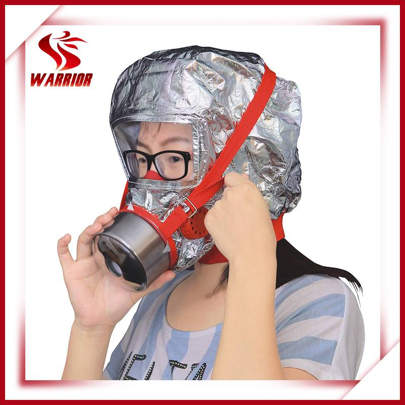 CE approved filter hood/fire protective hood
