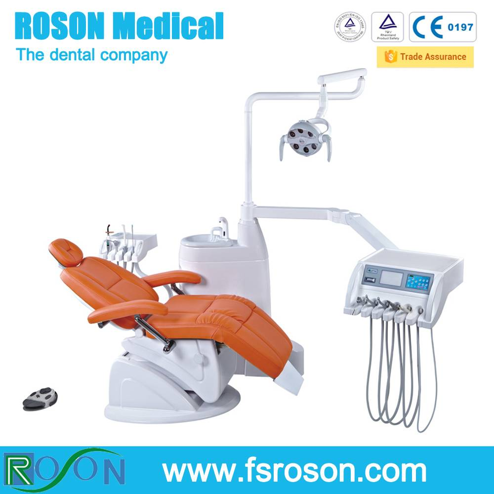 foshan roson high quality dental unit KLT6220-N8 with folding chair