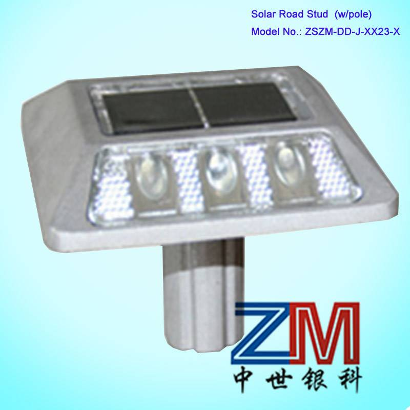 Solar LED Road Stud (with pole)