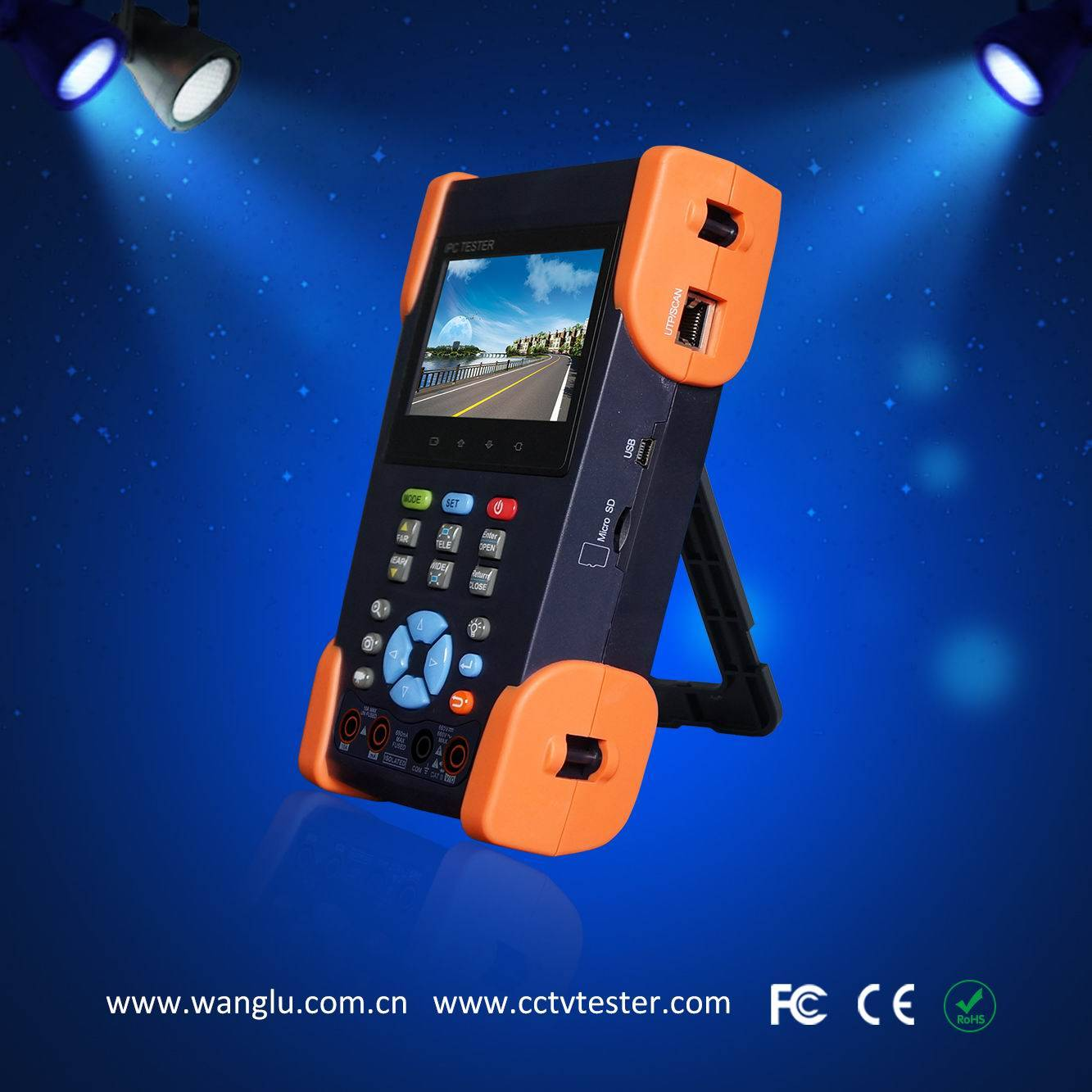 3.5 inch touch screen AHD/CVI/TVI/SDI ip cctv camera tester