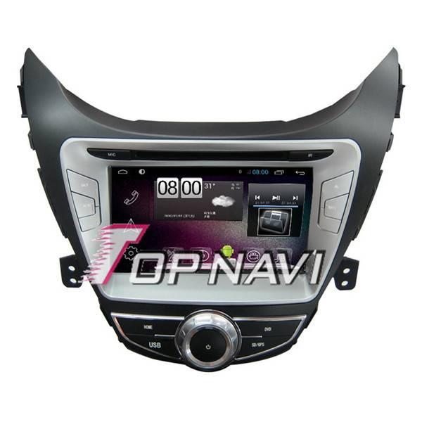 800*480 8inch Android 4.4 Car DVD Player For Hyundai Elantra 2012 GPS Navigation
