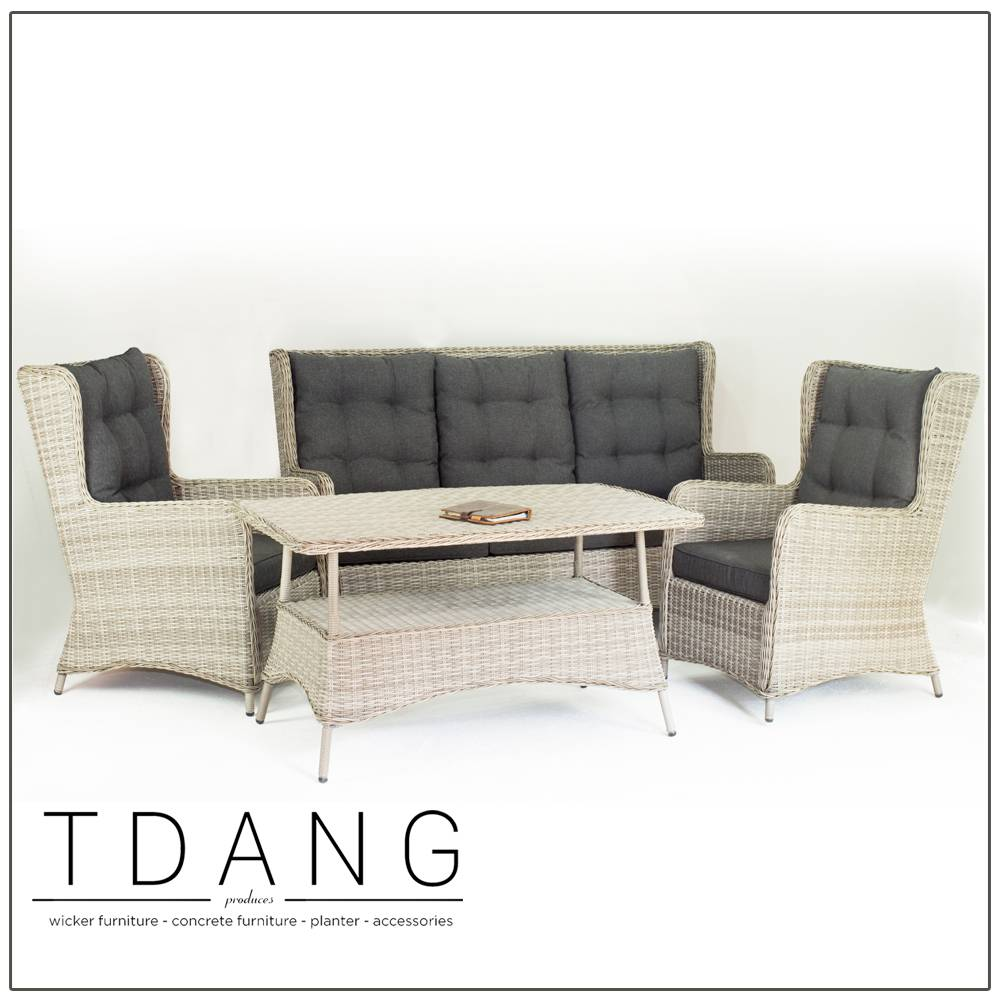 Trieste 4 Pieces Seating Group with Cushions (Code TD1009)