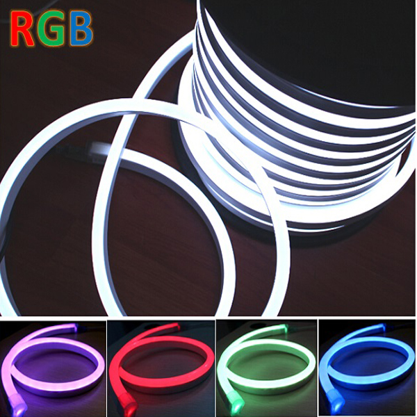 Silicone High Quality DC24V SMD5050 RGB Neon Rope Light for Outdoor Decoration