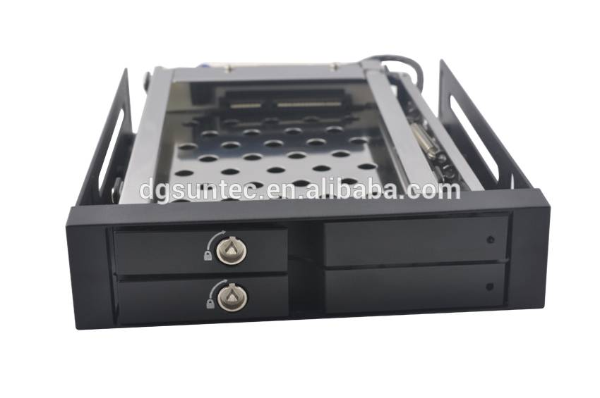 2*2.5In dual bay Unestech SATA Aluminum case internal hard drive disk caddy