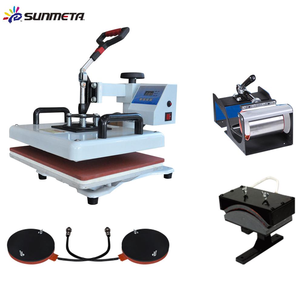 8 In 1 Combo Heat Press Machine Cup Magic Mug T-Shirt Printing Machine 8 1 Sublimation Machine