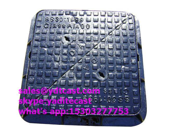 JRC14 DOUBLE TRIANGLE DUCTILE IRON MANHOLE COVER DUBAI