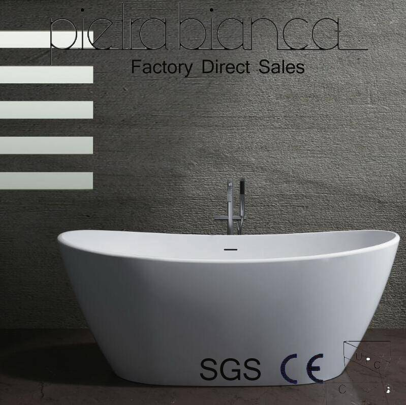 Corian Solid Surface Freestanding Bathtub with Cupc Approval (PB1009)