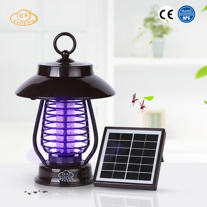 YiFeng YF-173 Waterproof Rechangeable Solar Mosquito Killing Lamp