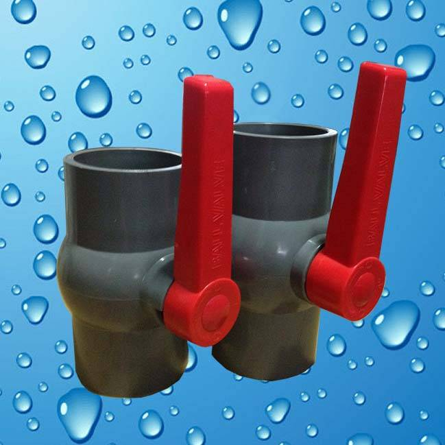 """HJ"" Best selling pvc plastic ball valve with long handle"