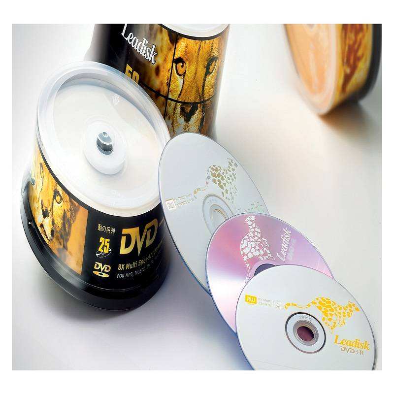 DVDR 8X/16X in 10/25/50/100PCS Cake Box leadisk cdr dvdr bulk