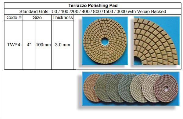 Terrazzo Polishing Pad ~ Standard 7 Steps