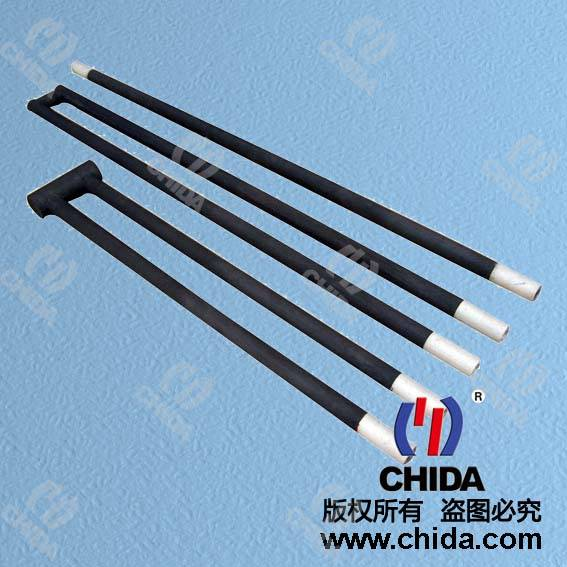 U shape SiC heating element, SiC furnace heater