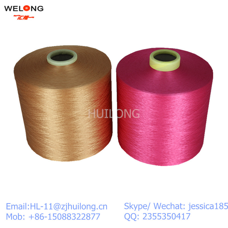polyester yarn for woven labels