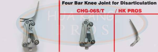 Four Bar Knee Joint for Knee Disarticulation