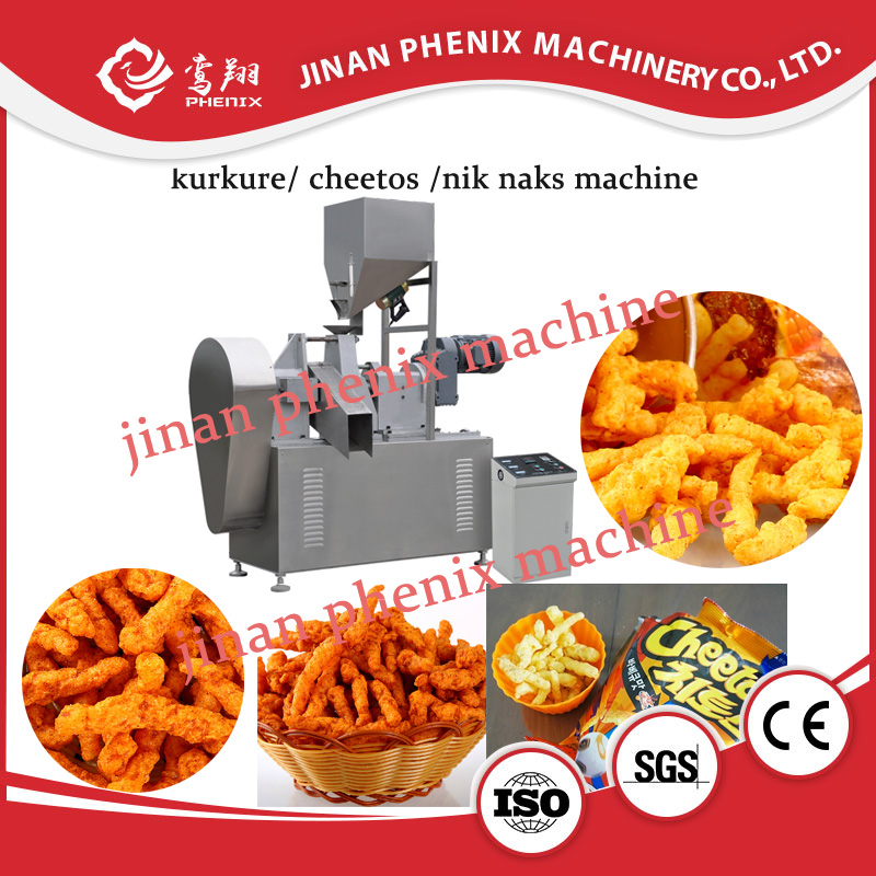 automatic kurkure nik naks cheetos snack extruder making machine