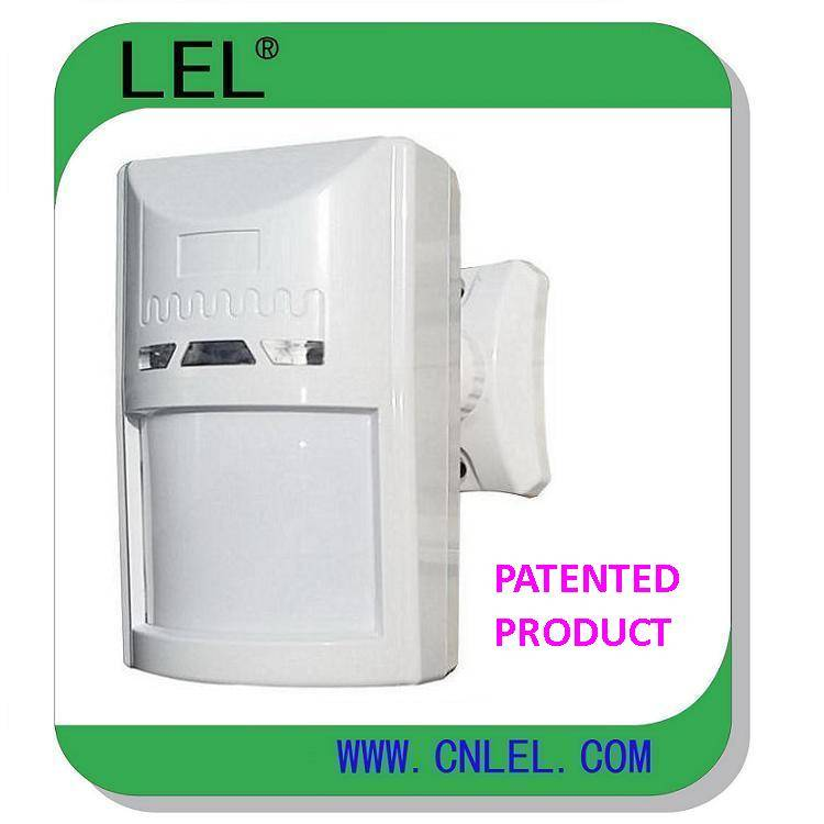 Wired wide angle PIR motion detector for home security