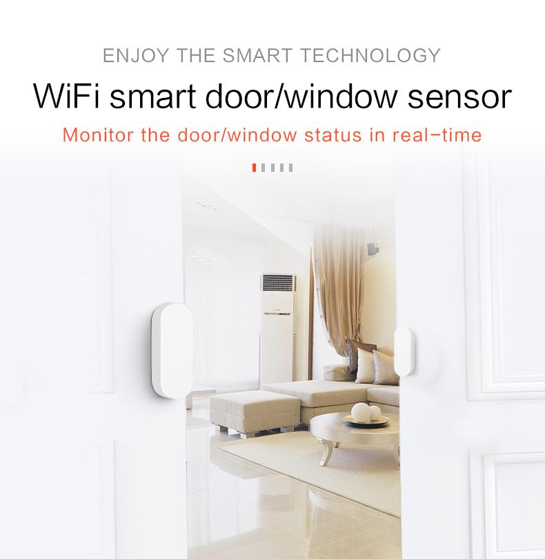Enerna IoTech WiFi Smart Home Guard Voice Control Door Windows Magnetic Contact Detector