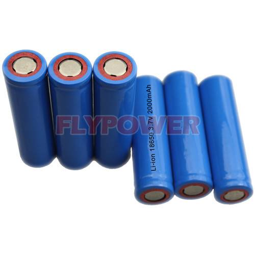 3.7V 2000mAh 18650 Lithium Ion Battery Cell (FLC-18650-2000)