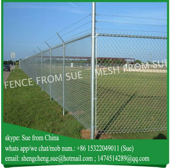9 gauge wire mesh soccer field chain link fencing