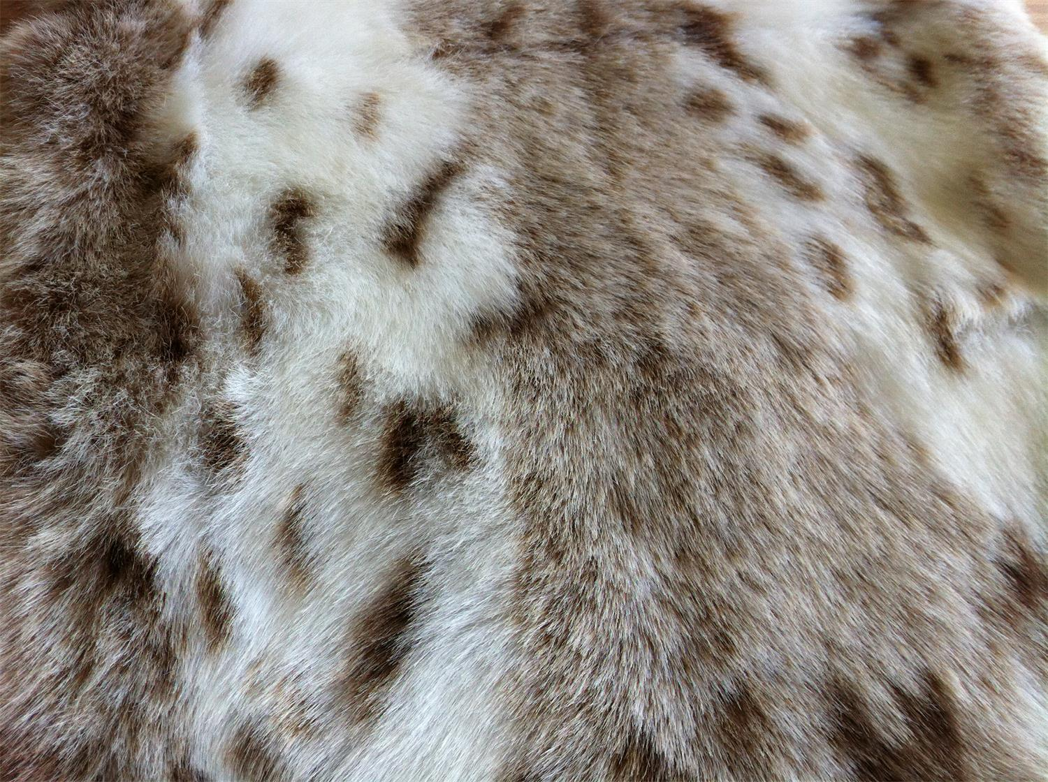 Acrylic Spotted Long-hair Fake Fur 1000 G/M