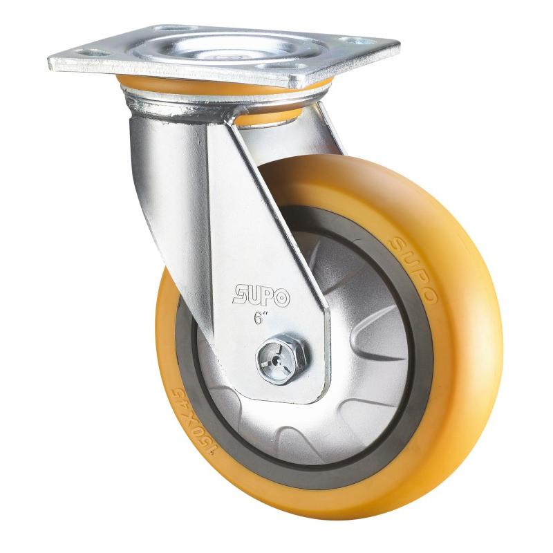 PP PA PU ER Wheel Double Ball Bearing Swivel Fixed Plate Heavy Duty Casters Wheels