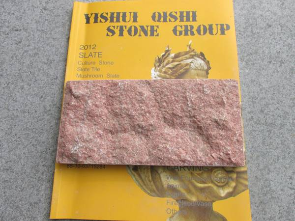 Red Marble Mushroom Stone, Cultured Stone
