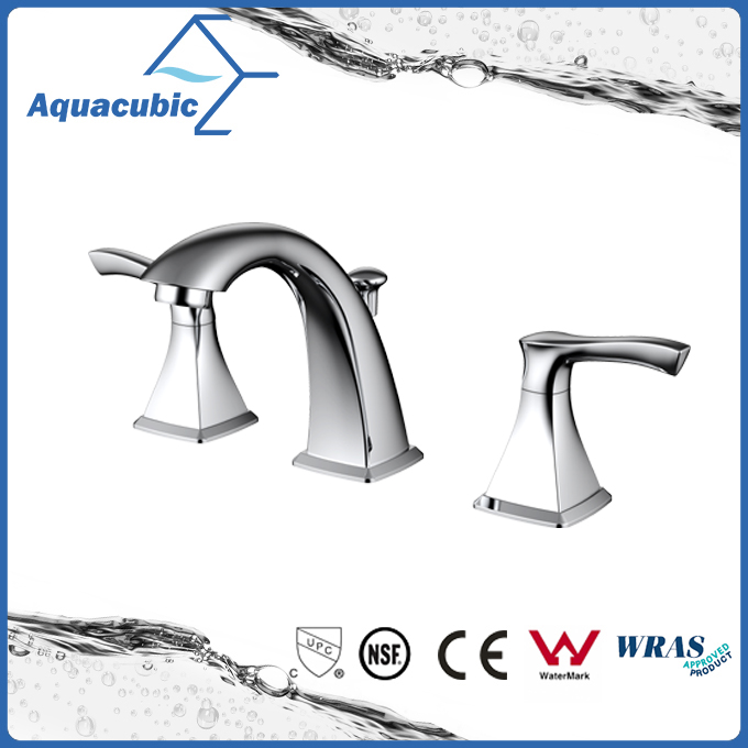 8 inch double handles 3 hole basin mixer faucet (AF8032-6 )