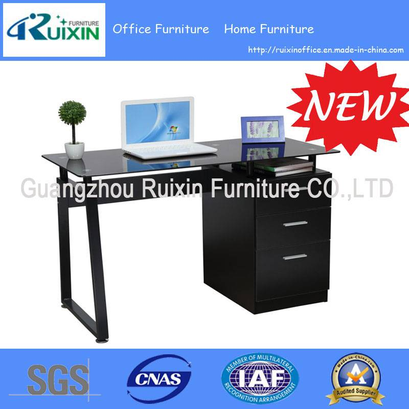 2015 New design modern glass desktop computer Desks (RX-D1034B)