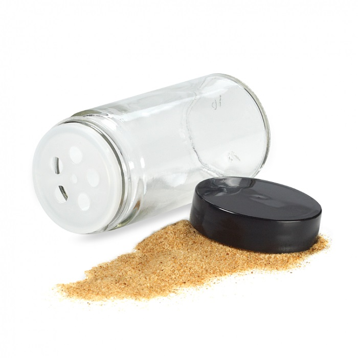 Glass Round Shaker Spice Jar