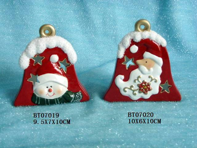Ceramic christmas bell with candleholder