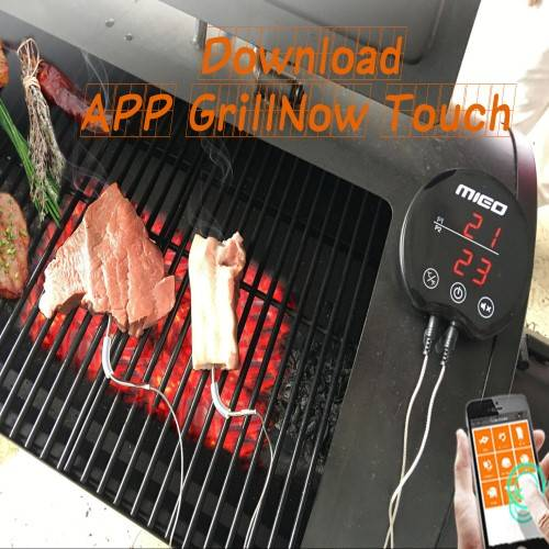 Wireless Bluetooth App Enabled BBQ Meat Thermometer